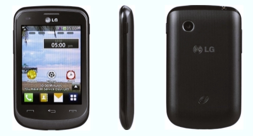 Tracfone LG 305C front back side