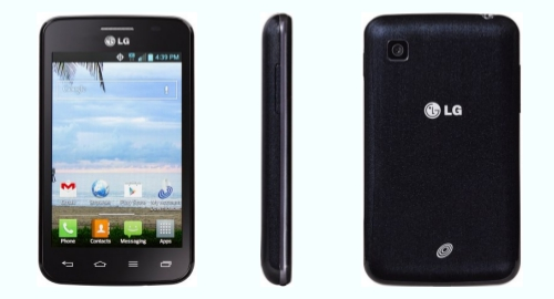 Tracfone LG Optimus Dynamic II front back side
