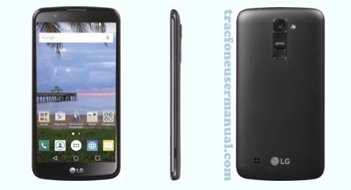 Tracfone LG Premier LTE L62VL front back side