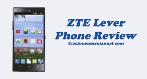 Trafone ZTE Lever LTE Z936VL Review