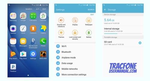 TracFone Samsung Galaxy Sky S320VL screenshot