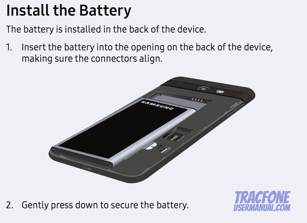 Galaxy J7 Install Battery