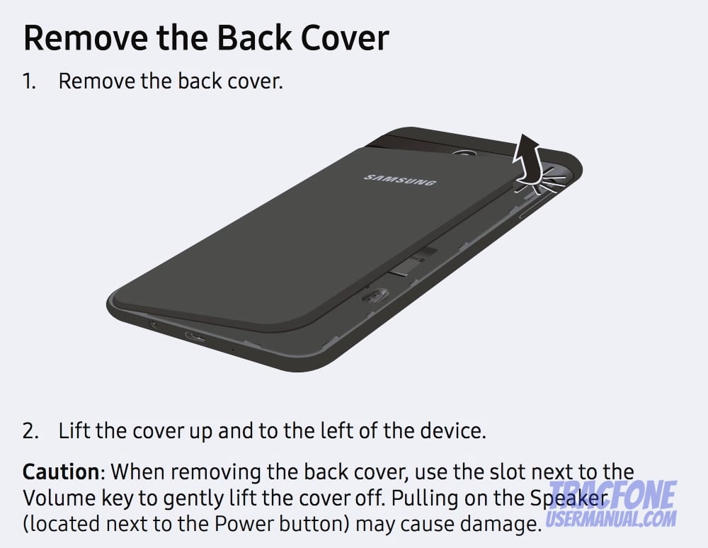 Galaxy J7 Remove Back Cover