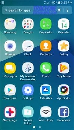 Galaxy J7 Sky Pro App Drawer