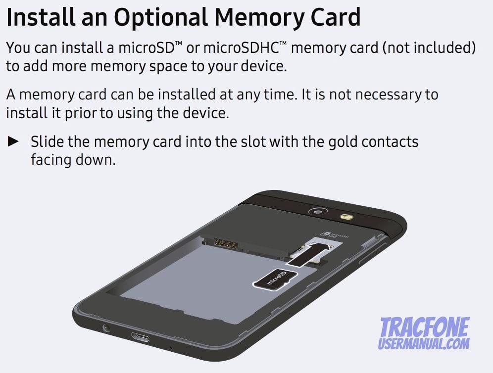 Galaxy Luna Pro Install microSD
