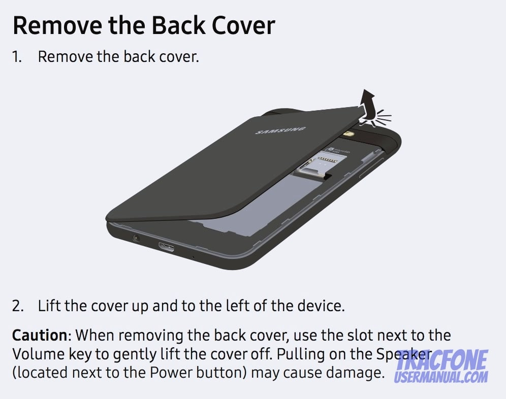 Galaxy Luna Pro Remove Cover