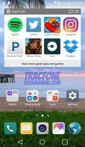 LG Grace App Drawer