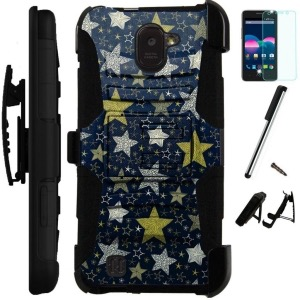 ZTE Jasper Hybrid Holster Case by World Acc