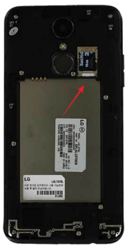 LG Rebel 3 SIM Tray
