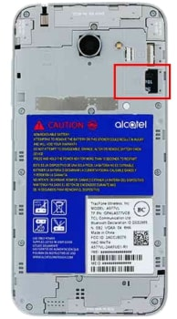 How to Insert Memory Card in Alcatel ZIP LTE