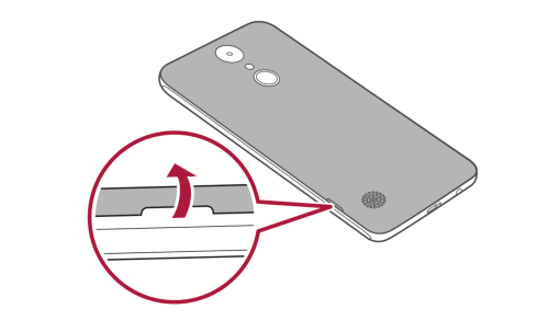 Removing the Back Cover LG Rebel 3 LTE