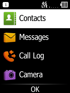 Doro 7050 Menu Contacts