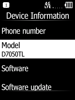 Doro 7050 Device Information