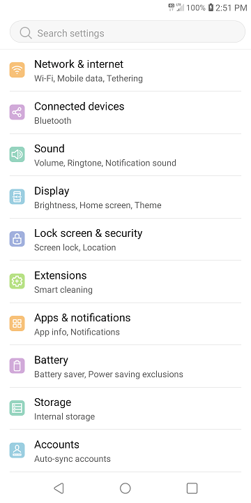 LG Journey LTE Settings