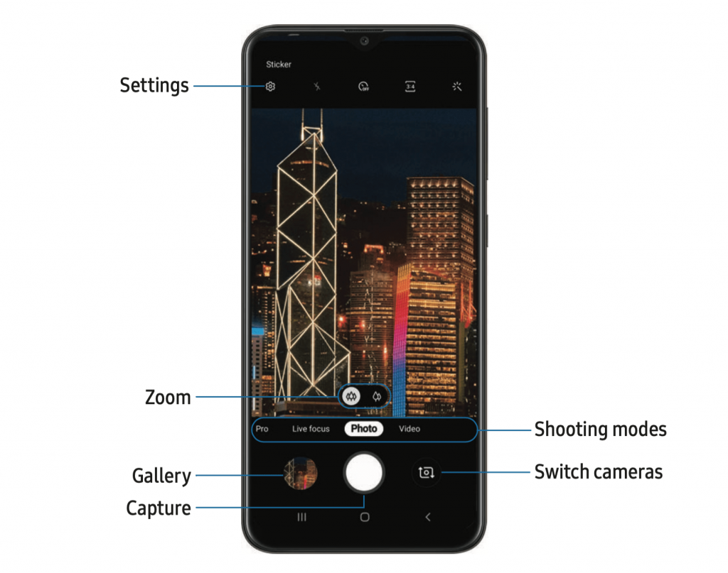 Samsung Galaxy A10e Camera Option