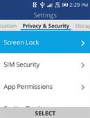 Alcatel MyFlip Security