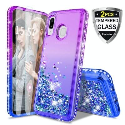 Galaxy A20 Glitter Liquid Case by Donse