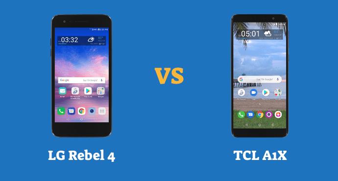 LG Rebel 4 vs TCL A1X