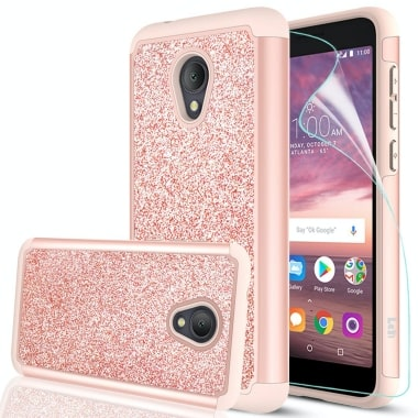 LeYi Glitter Bling Case Alcatel TCL LX