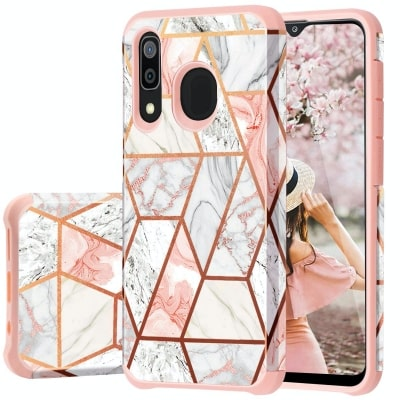 Marble Design Case by Fingic for Galaxy A20