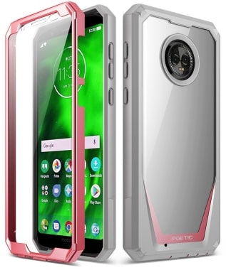 Moto G6 Rugged Clear Bumper Case by Poetic