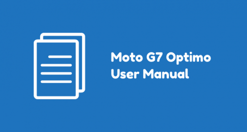 Moto G7 Optimo Manual