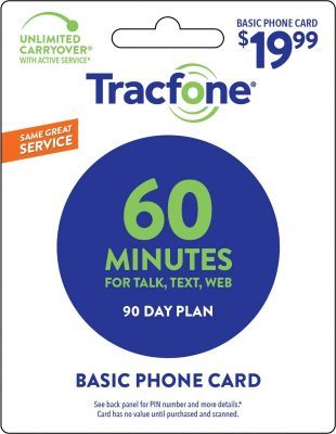 Tracfone 60 Minutes Card