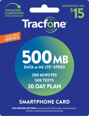 Tracfone smartphone card
