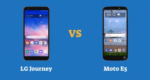 LG Journey LTE vs Moto E5