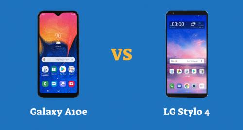 Samsung Galaxy A10e vs LG Stylo 4