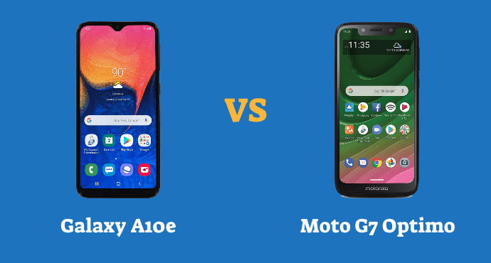 Samsung Galaxy A10e vs Moto G7 Optimo