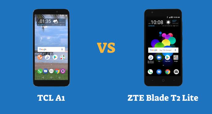 TCL A1 vs ZTE Blade T2 Lite