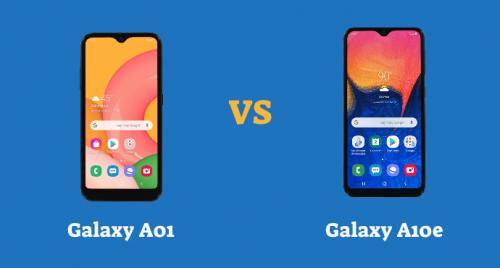 Galaxy A01 vs Galaxy A10e Specs Comparison