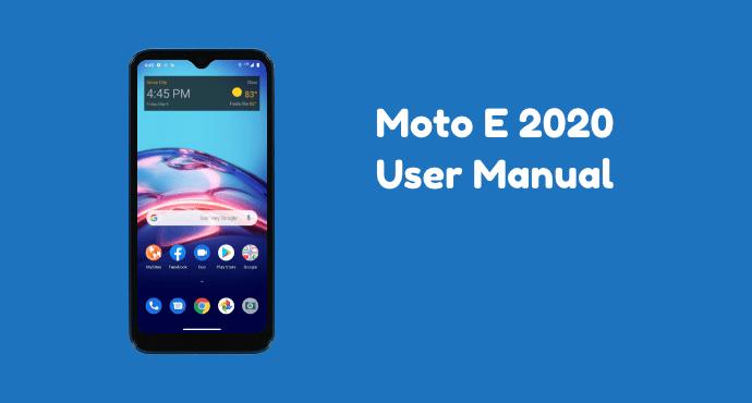 Moto E 2020 User Manual