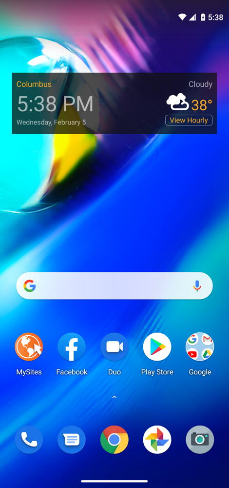 Moto G Power Home Screen