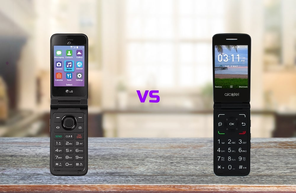 Comparison LG Classic Flip vs Alcatel MyFlip