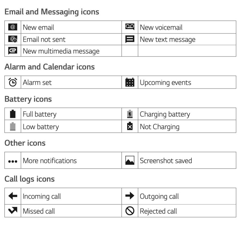 LG Classic Flip Icons Symbol