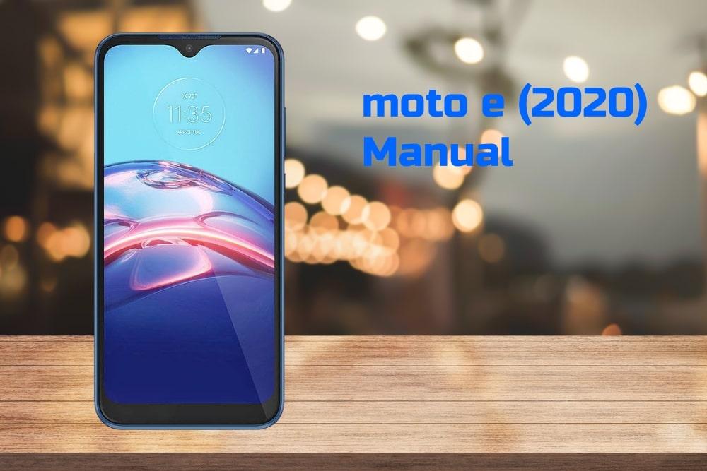 Moto E 2020 Manual Tracfone