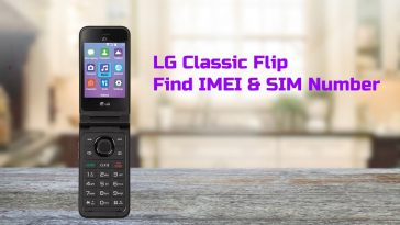 lg classic flip find imei number